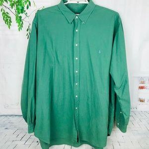 POLO RALPH LAUREN Hunter Green Long Sleeve Shirt